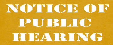 Notice of Public Hearing