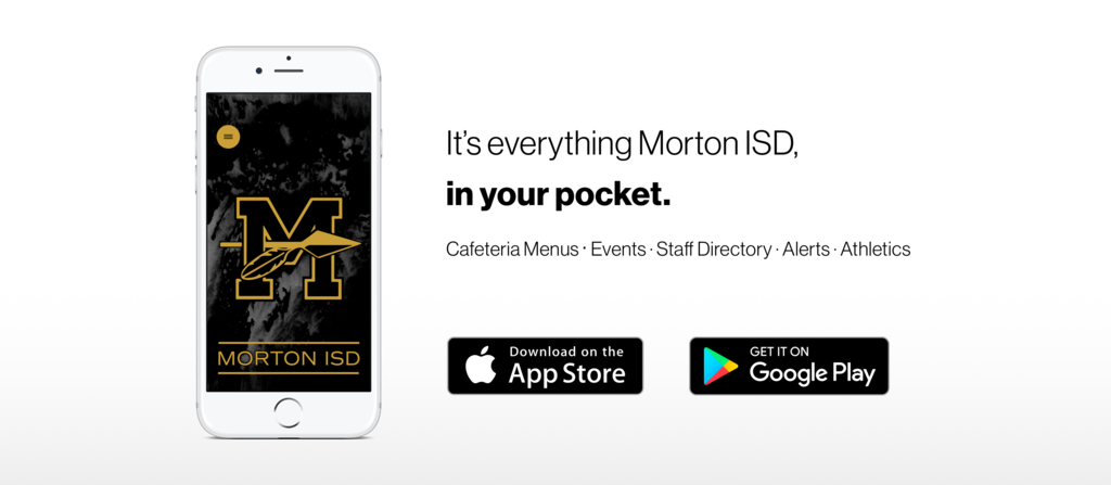 Morton ISD App advertisement