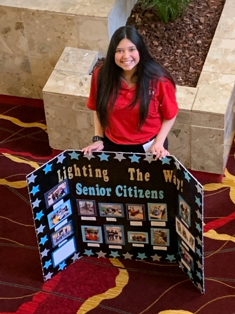 Makala Rodriguez worked with our local senior citizens for her project.